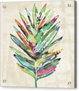 Summer Palm Leaf- Art By Linda Woods Acrylic Print