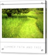 Summer Path And Tree Poster Acrylic Print