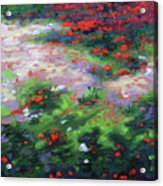 Summer Petals On A Forest Ground Acrylic Print