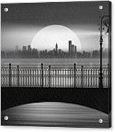 Summer Rain At The Bridge Acrylic Print