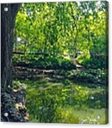 Summer Reflections At Lafayette Park Acrylic Print