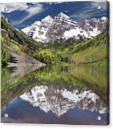 Maroon Bells Aspen Colorado Summer Reflections Acrylic Print