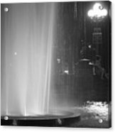 Summer Romance - Washington Square Park Fountain At Night Acrylic Print