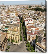 Summer Rooftops In Seville Spain Acrylic Print