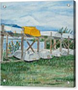 Summer Row Boats Acrylic Print