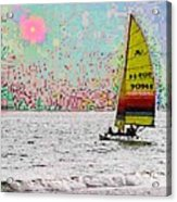 Summer Sailin Acrylic Print