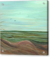 Summer Sand Dunes Acrylic Print