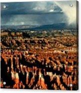 Summer Storm At Bryce Canyon National Park Acrylic Print