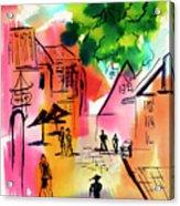 Summer Strolling Acrylic Print