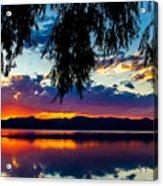 Sunset At Agency Lake, Oregon Acrylic Print