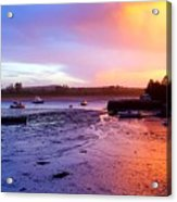 Summer Sunset At Low Tide Acrylic Print