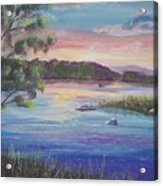 Summer Sunset On Fish Lake Acrylic Print
