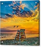 Summer Sunset On The Beach Acrylic Print