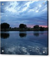 Summer Sunset On Yakima River 5 Acrylic Print