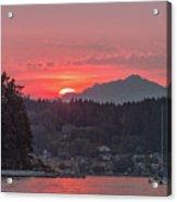 Summer Sunset Over Yukon Harbor.4 Acrylic Print