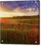 Summer Sunset - Waukesha Wisconsin  Acrylic Print