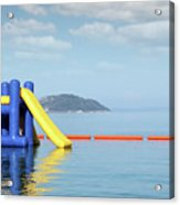 Summer Vacation Scene With Water Slide  Acrylic Print