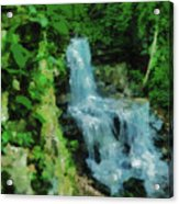 Summer Waterfall In West Milton Acrylic Print