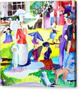 Summer With In The Park With George Acrylic Print