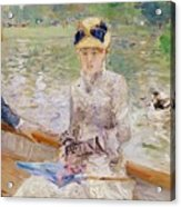 Summers Day Acrylic Print by Berthe Morisot