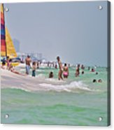 Summers Day On Pensacola Beach Acrylic Print