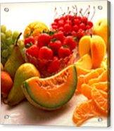 Summertime Fruit On White Acrylic Print
