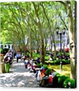 Summertime In Bryant Park Acrylic Print