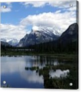 Summertime In Vermillion Lakes Acrylic Print