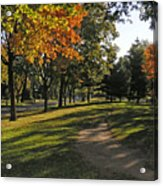 Summit Avenue In The Fall Acrylic Print