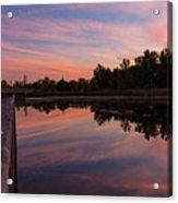 Summit Lake Reflected Sunset   Acrylic Print