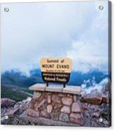 Summit Of Mount Evans Acrylic Print