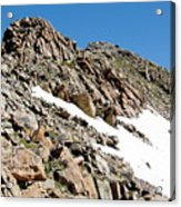Summiting The Mount Massive Summit Acrylic Print