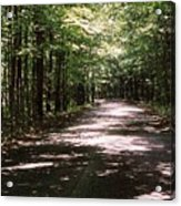 Sun And Shadow Road In Summer  C3pdl Acrylic Print