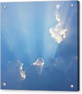 Storm Clouds And Sun Acrylic Print