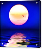 Sun And Water Acrylic Print