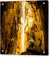 Sun Beam In Cave. Acrylic Print
