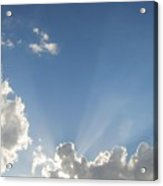 Sun Beaming Thru Clouds Acrylic Print