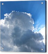 Sun Behind The Clouds 4 Acrylic Print