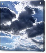 Sun Breaking Through The Clouds Acrylic Print