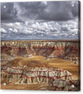 Sun Breaks And Passing Clouds Over Arizona's Remote Ha Ho No Geh Canyon. Acrylic Print