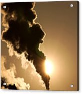 Sun Covered With Soot - Air Pollution Acrylic Print