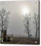 Sun Filtered Through Fog Acrylic Print