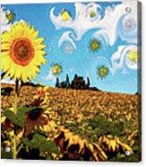 Sun Flowers Field Acrylic Print