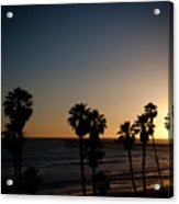 Sun Going Down In California Acrylic Print