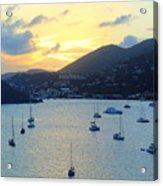 Sun Had Set In St. Thomas Acrylic Print