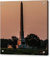 Sun Hitting The United States Regular Monument Acrylic Print
