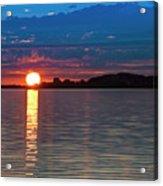 Sun Is Setting Over Port Hood Island Acrylic Print