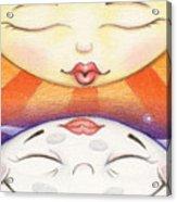 Sun Kissed Moon Acrylic Print