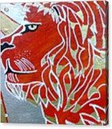 Sun Lion Acrylic Print