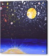 Sun Moon And Stars Acrylic Print by Donna Blossom